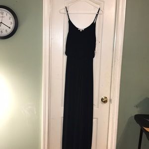 Super sexy form fitting full length navy dress 👗